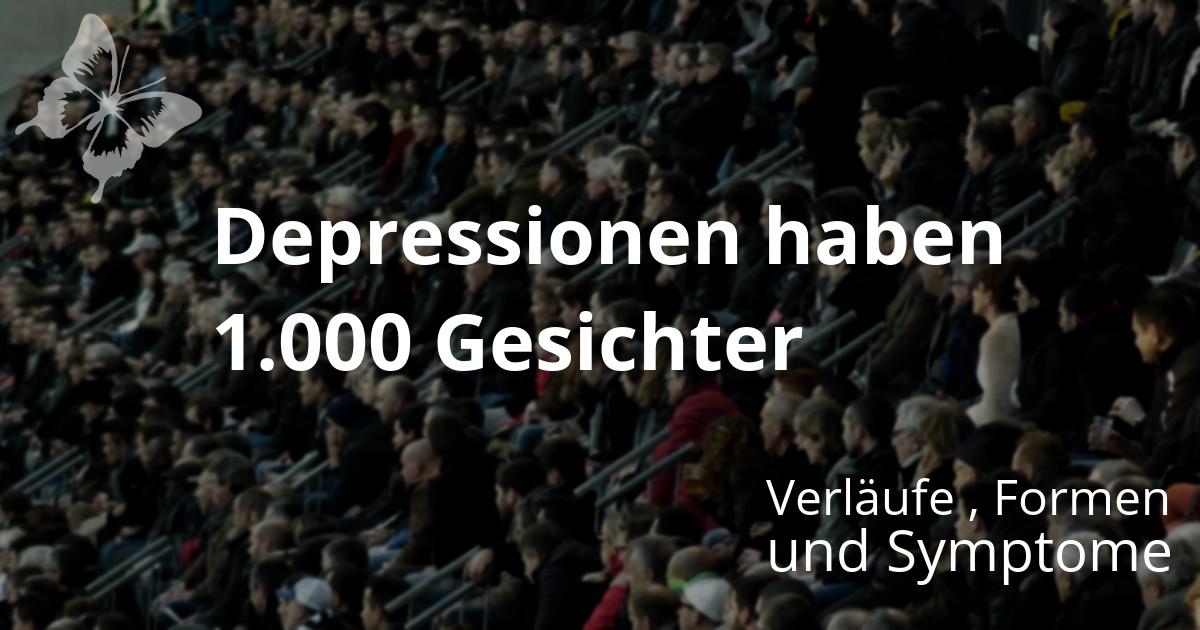 Dunkle Menschenmenge - Die Depression hat 1000 Gesichter