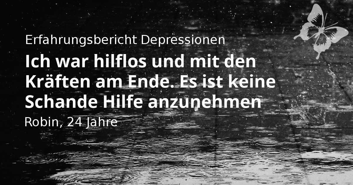 Regen - Sinnbild für Depressionen