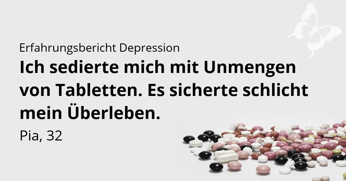 Depression Erfahrungsbericht Tabletten und Medikamente