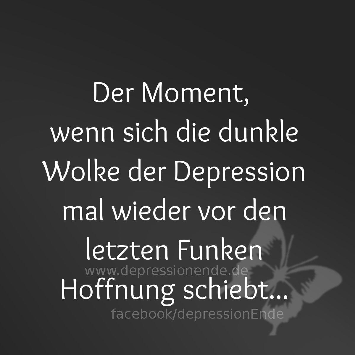 Der Moment, wenn sich die dunkle Wolke der Depression mal wieder vor den letzten Funken Hoffnung schiebt.